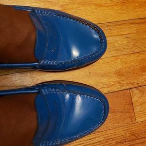 Weejuns Genuine Leather Lofa 9.5M Blue
